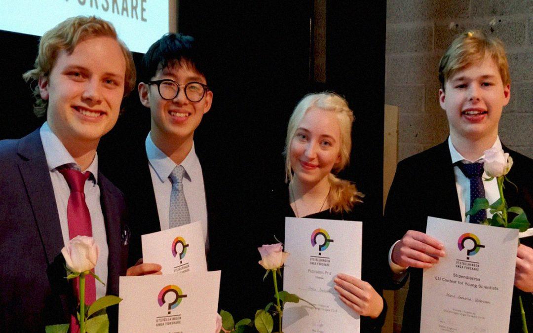 Elever från Odenplan vinner pris på utställningen Unga Forskare