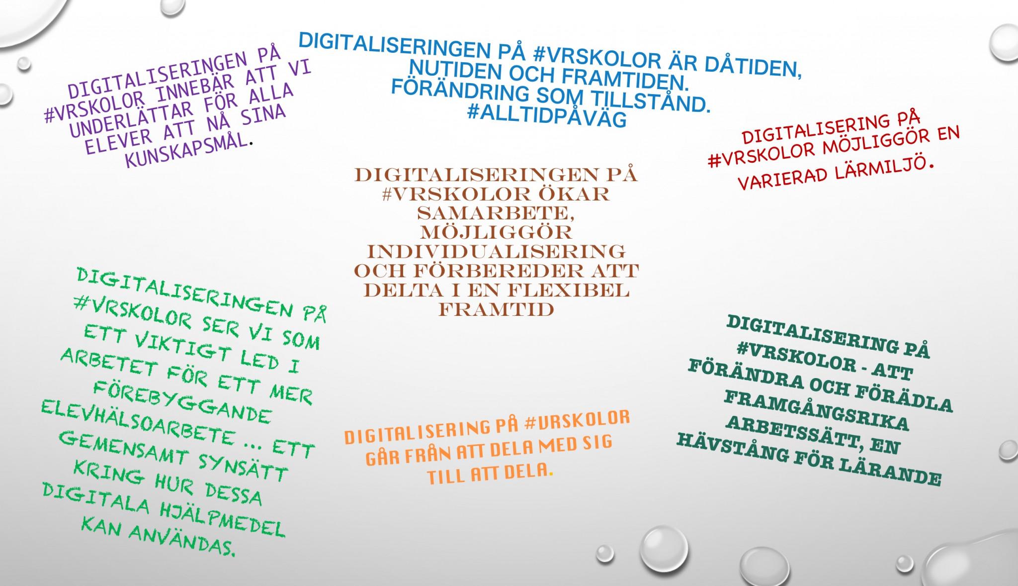 Digitalization at VR skolor