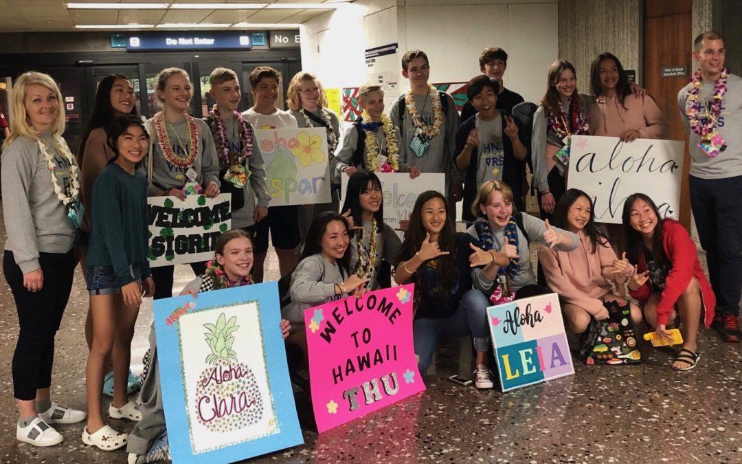 VRS Vasastan på besök på vår systerskola Punahou School i Honolulu, USA.