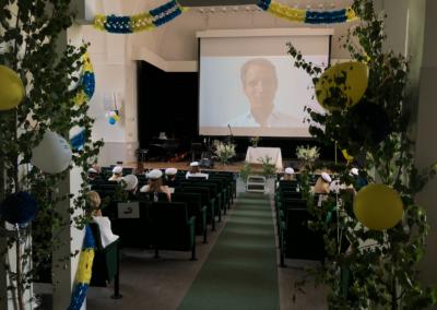VRG-alumnen Erik Brandberg håller digitalt tal