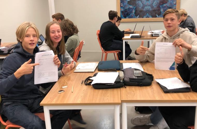 Kreativa affärsidéer i åk 9 när entreprenörskap stod på schemat på VRS Vasastan