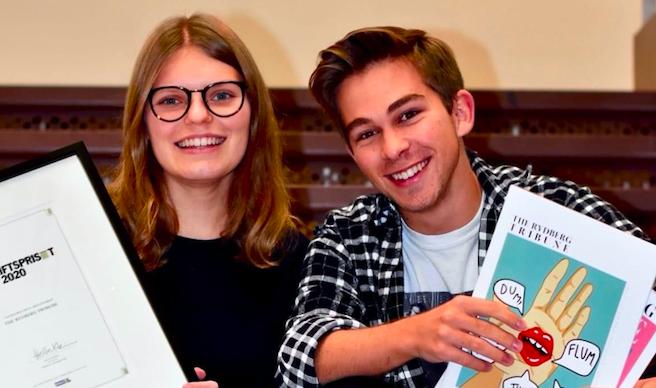 Skoltidningen The Rydberg Tribune på VRG Odenplan vinner Årets Skoltidskrift