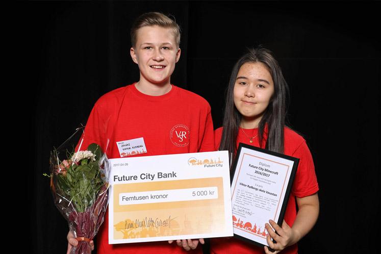 Viktor Rydbergs skola Vasastans 7:or tog hem 1:a pris i Future City Minecraft